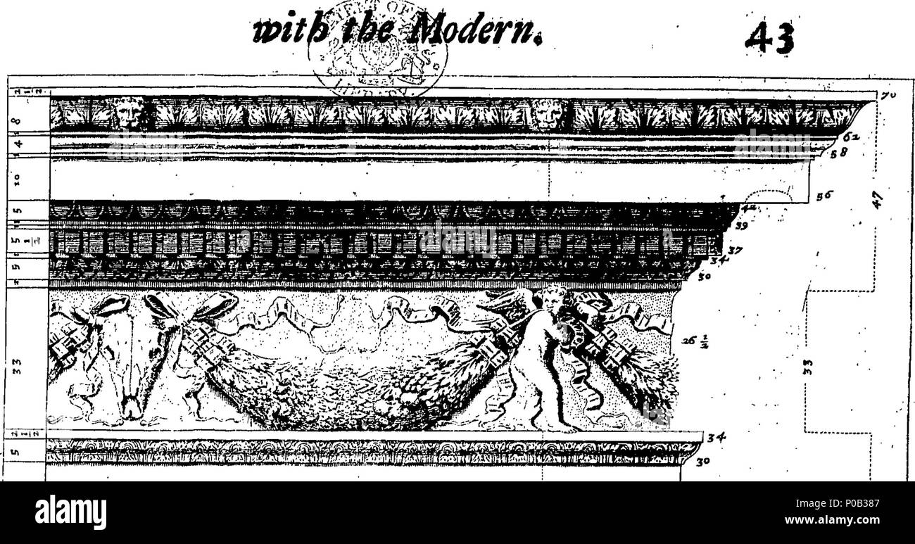English: Fleuron from book: A parallel of the ancient architecture