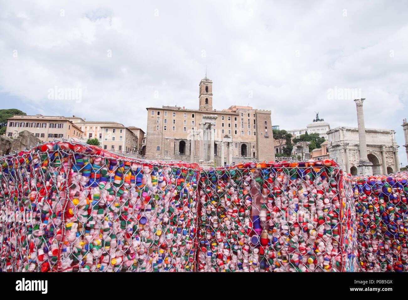 Rome, Italy  08th June, 2018  Artistic installation