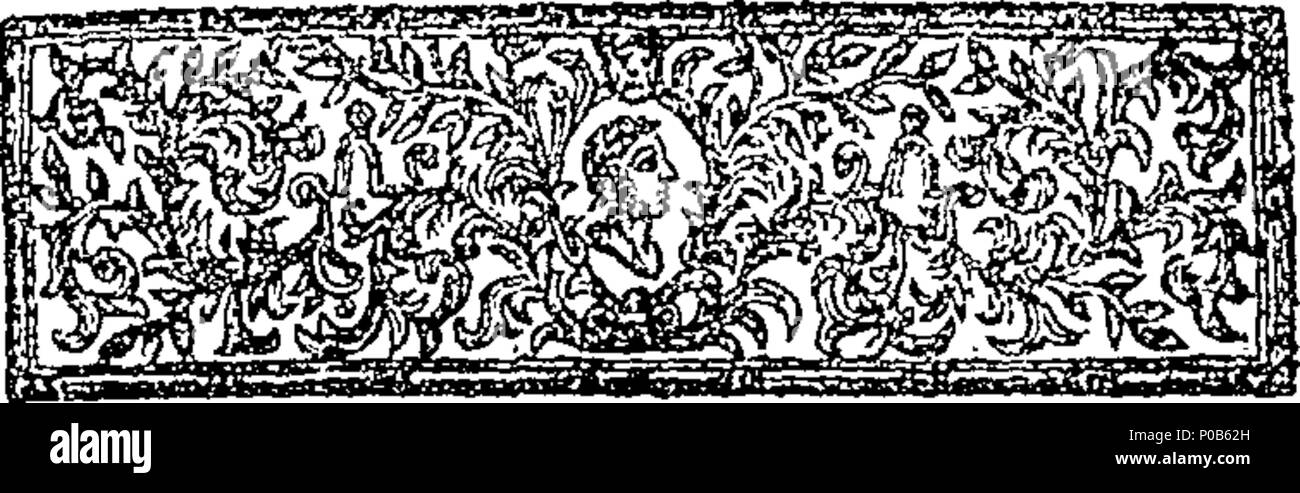 . English: Fleuron from book: An answer to a book intituled A plain account of the nature and end of the sacrament of the Lord's supper. In a letter to the author. Part I. By Richard Warren D. D. Rector of Cavendish in Suffolk, and late Fellow of Jesus College in Cambridge. 304 An answer to a book intituled A plain account of the nature and end of the sacrament of the Lord's supper Fleuron T063132-4 - Stock Image