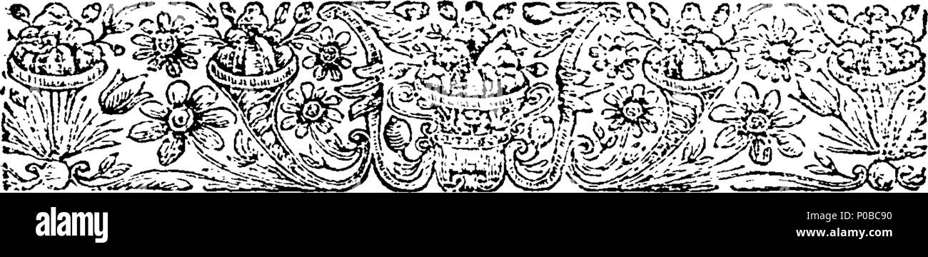 . English: Fleuron from book: An act for enabling and impowering the Mayor and commonalty and citizens of the city of London, and their successors, to sell and convey to the Right Honourable George Earl of Pomfret, the Lordship and manor of Oxenforde, ... 297 An act for enabling and impowering the Mayor and commonalty and citizens of the city of London Fleuron T067412-2 - Stock Image