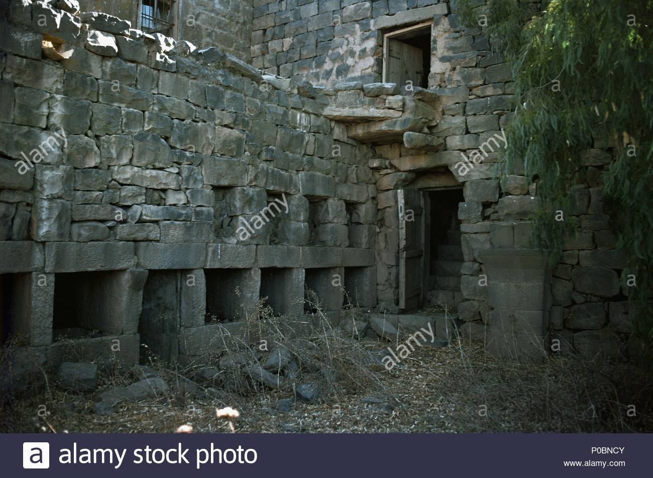 Two Story Houses In A Village On The Golan Heights Israel Some