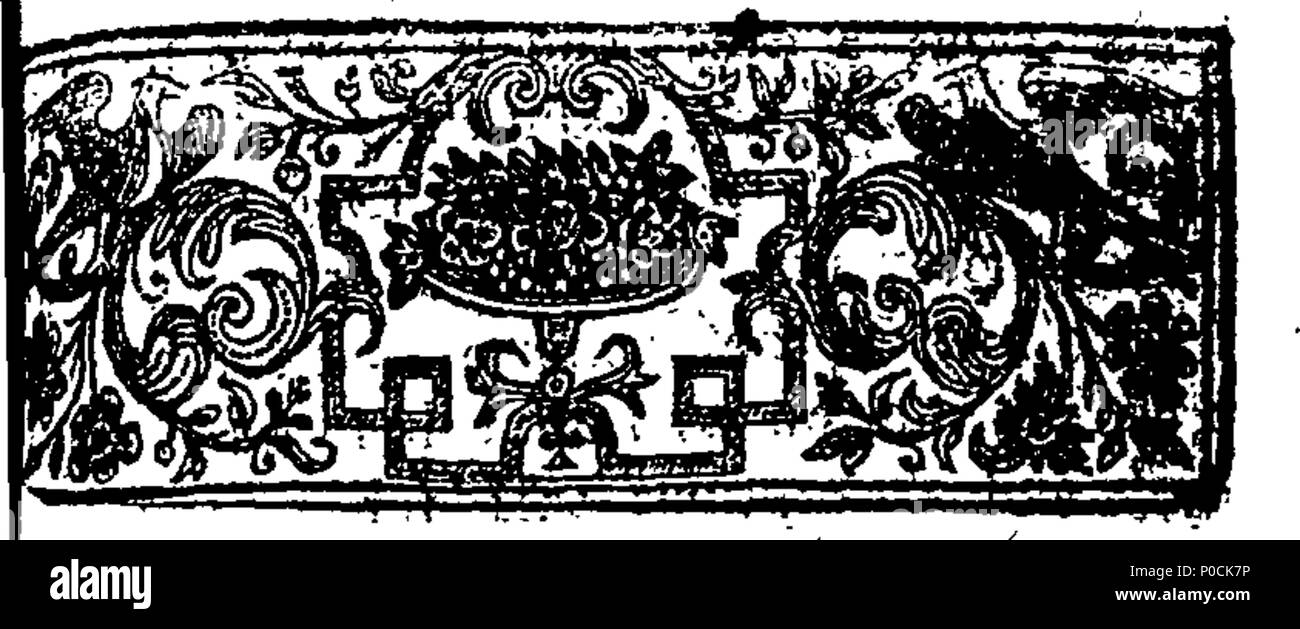 . English: Fleuron from book: A supplement to Mr. Ebenezer Erskine's synodical sermon. 212 A supplement to Mr. Ebenezer Erskine's synodical sermon. Fleuron T075297-2 Stock Photo