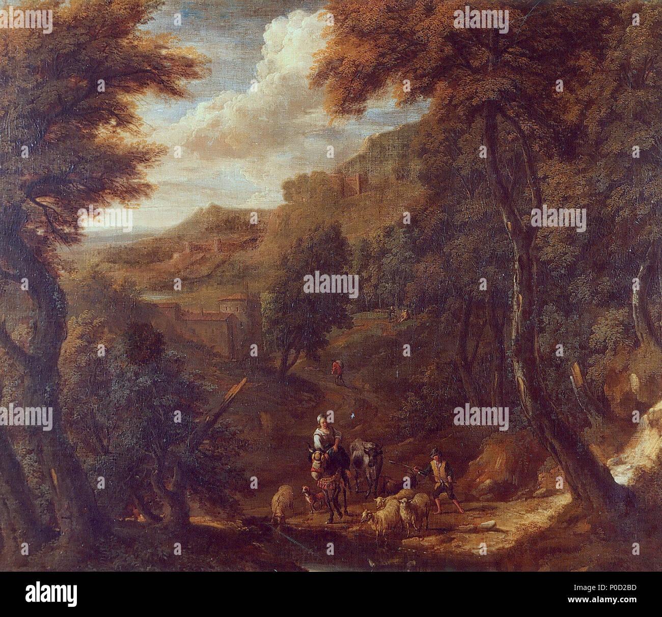 . English: Nicolas de Fassin, Mountainous landscape (Musée de l'Art wallon, Liège, Belgium)  . 27 September 2014, 01:59:35. Nicolas Henri Joseph de Fassin (1728-1811) 17 Nicolas de Fassin, Paysage montagneux - Stock Image