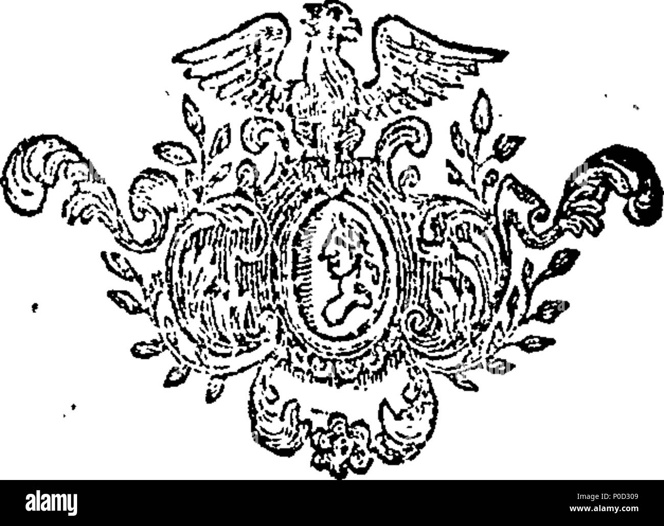 . English: Fleuron from book: A supplement to the works of Dr. Swift. 214 A supplement to the works of Dr. Swift. Fleuron T048957-1 Stock Photo