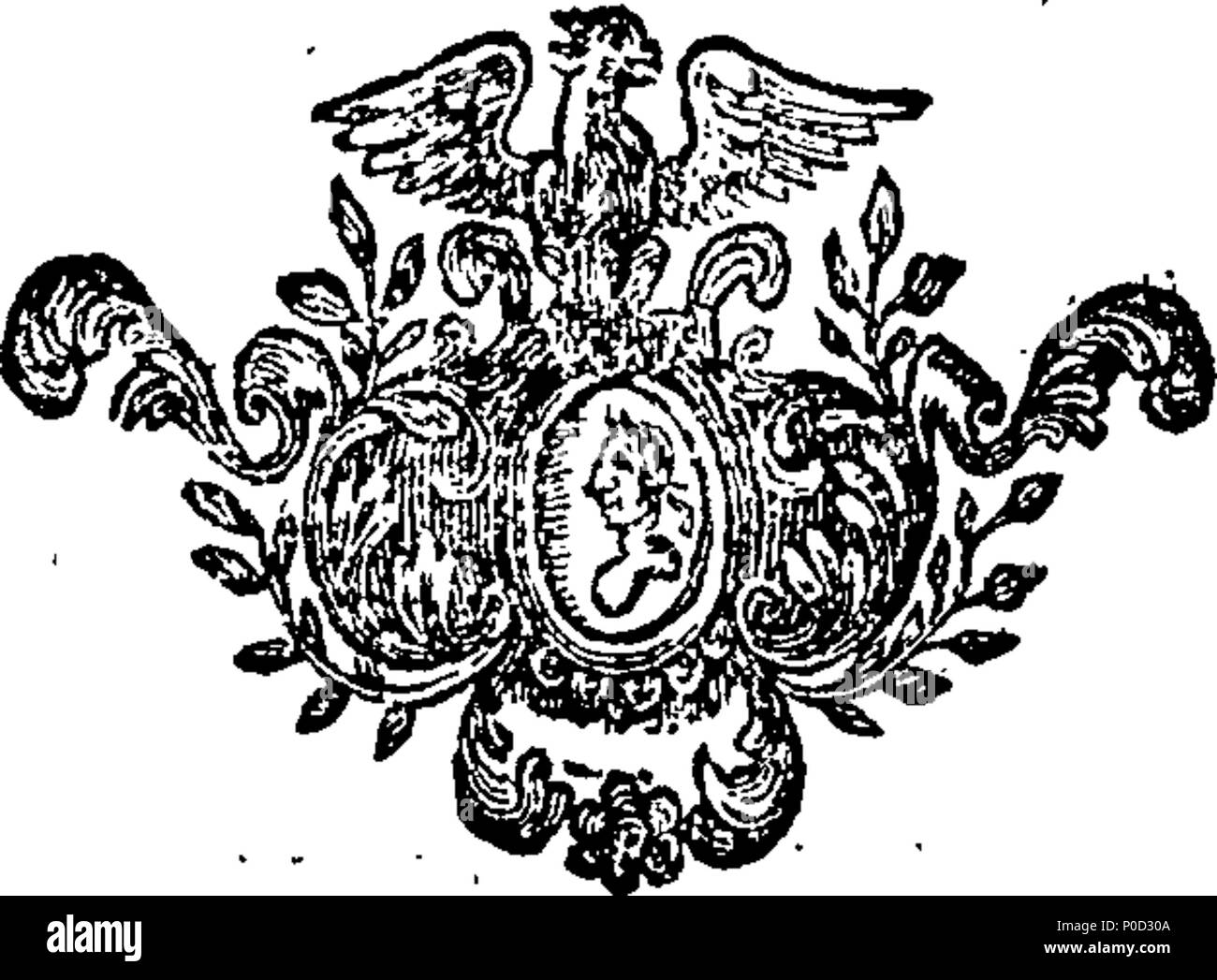 . English: Fleuron from book: A supplement to the works of Dr. Swift. 214 A supplement to the works of Dr. Swift. Fleuron T048957-4 Stock Photo