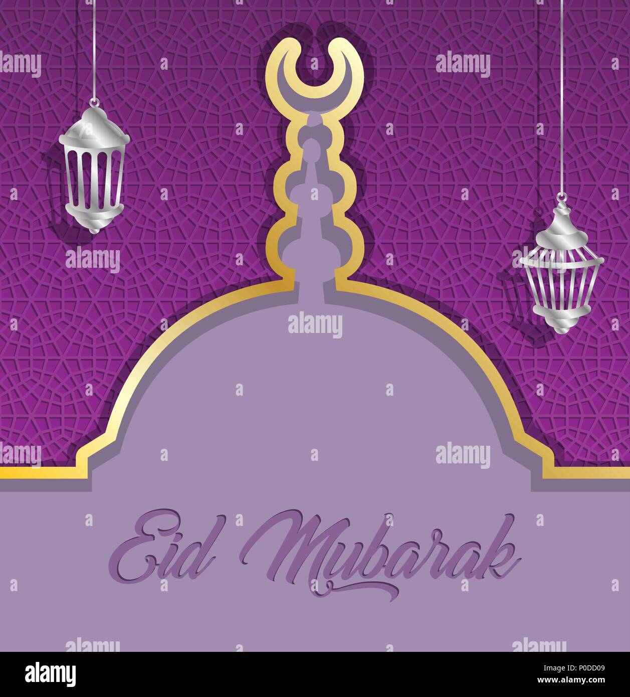 Eid mubarak greeting card with mosque dome and ramadan lanterns all eid mubarak greeting card with mosque dome and ramadan lanterns all the objects are in different layers and the text types do not need any font m4hsunfo