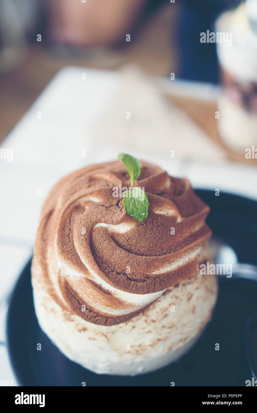 chocolate ice-cream cake Stock Photo