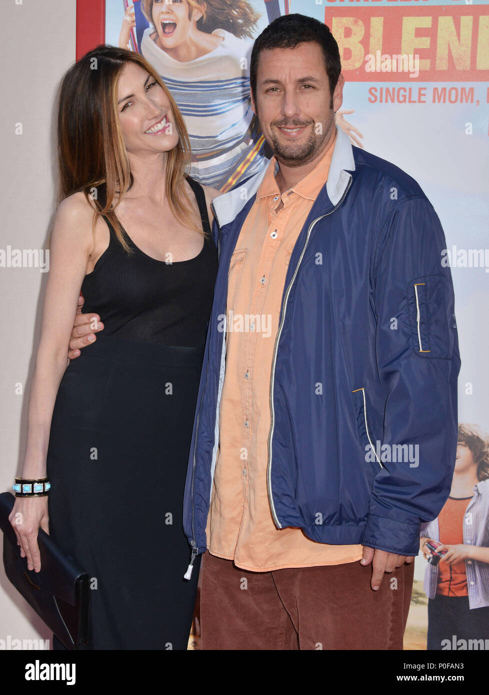 Jackie Sandler, Adam Sandler at the Blended Premiere at the Chinese