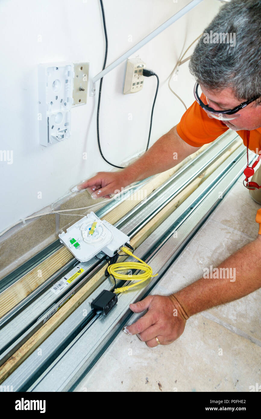 Florida Miami Beach At T Att Fiber Optics Installation Home High