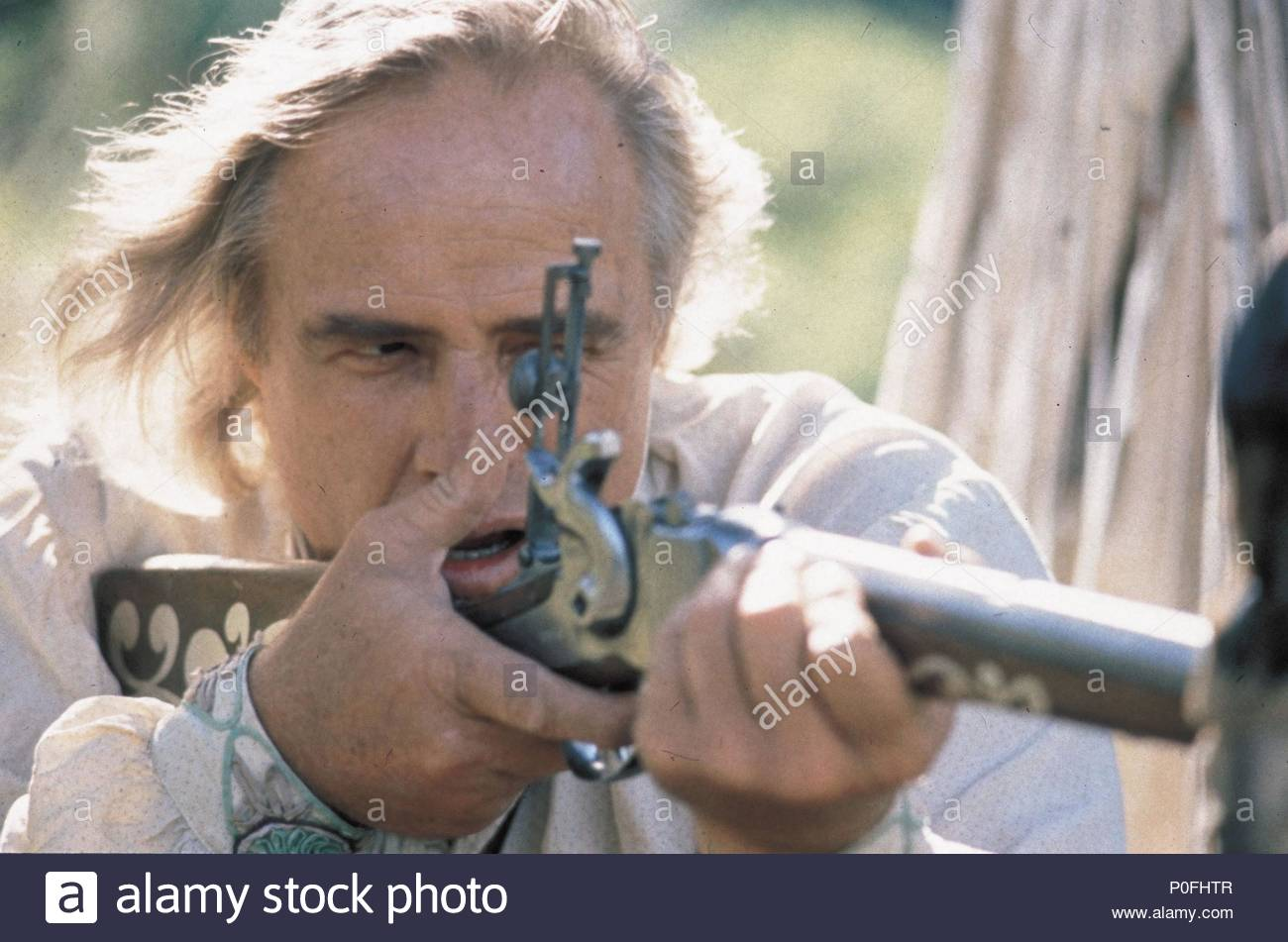 Original Film Title: THE MISSOURI BREAKS.  English Title: THE MISSOURI BREAKS.  Film Director: ARTHUR PENN.  Year: 1976.  Stars: MARLON BRANDO. Credit: UNITED ARTISTS / Album - Stock Image