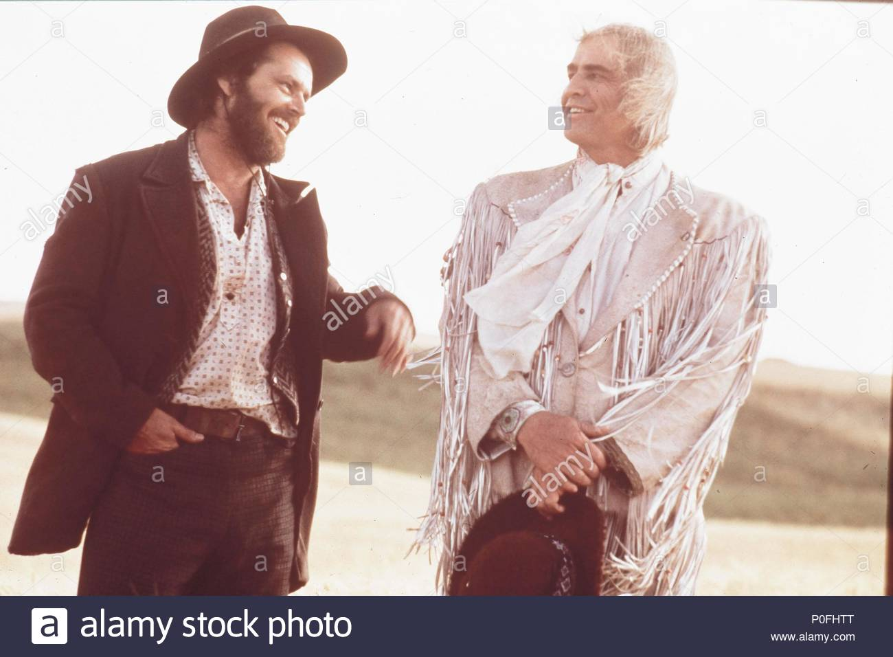 Original Film Title: THE MISSOURI BREAKS.  English Title: THE MISSOURI BREAKS.  Film Director: ARTHUR PENN.  Year: 1976.  Stars: JACK NICHOLSON; MARLON BRANDO. Credit: UNITED ARTISTS / Album - Stock Image