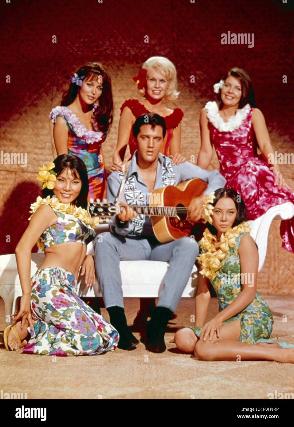 Original Film Title: PARADISE, HAWAIIAN STYLE.  English Title: PARADISE, HAWAIIAN STYLE.  Film Director: MICHAEL D. MOORE.  Year: 1966.  Stars: ELVIS PRESLEY. Credit: PARAMOUNT PICTURES / Album - Stock Image