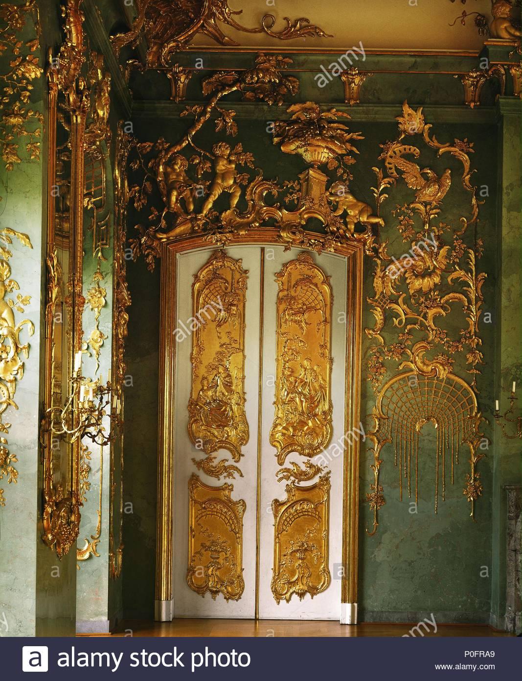 door with magnificent gilded stucco work golden gallery