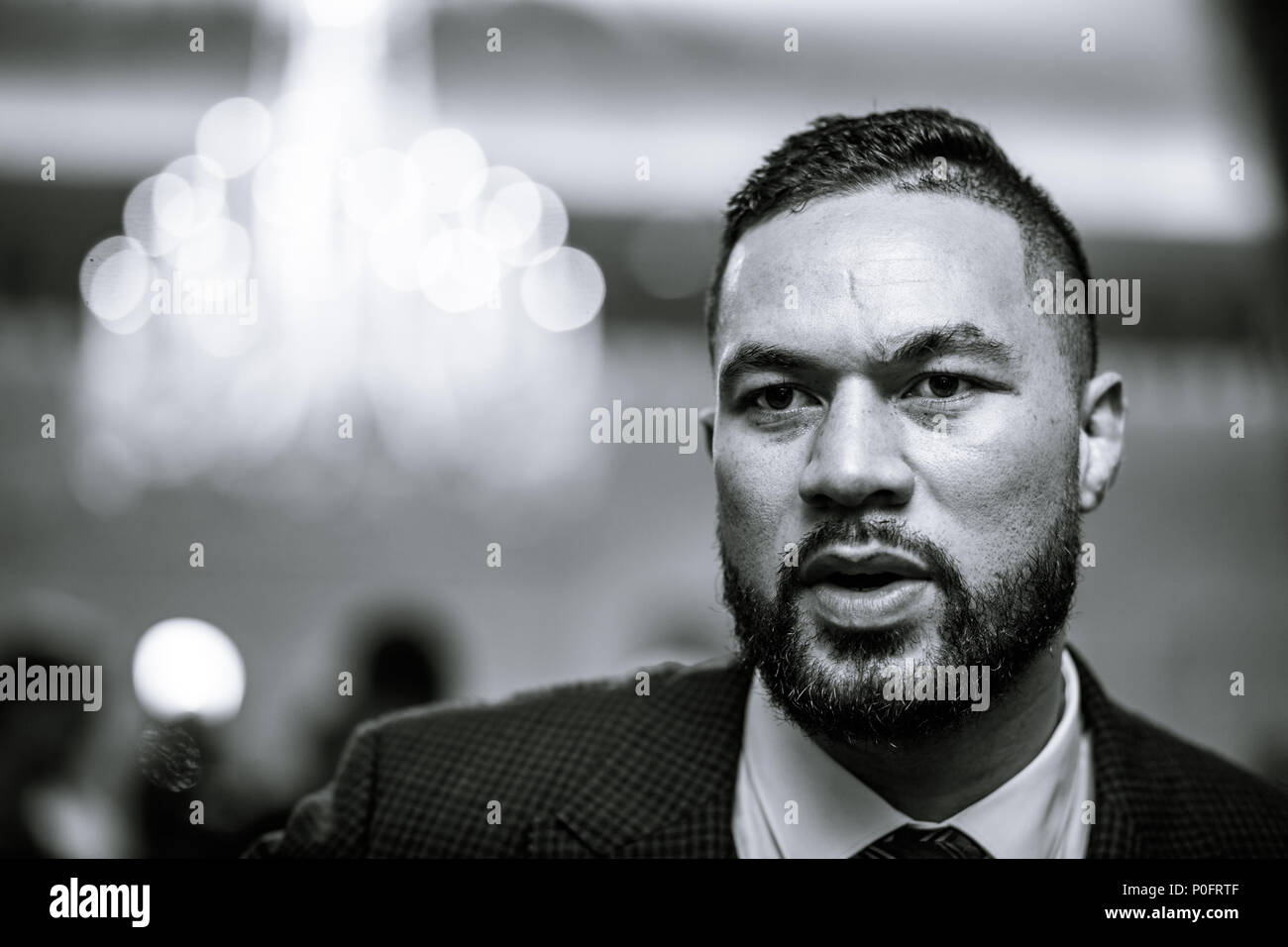 Joseph Parker during the press conference at the Dorchester Hotel, London. PRESS ASSOCIATION Photo. Picture date: Thursday June 7, 2018. Dillian Whyte and Joseph Parker will meet in a Heavyweight clash at The O2 in London on July 28. See PA story BOXING London. Photo credit should read: John Walton/PA Wire Stock Photo