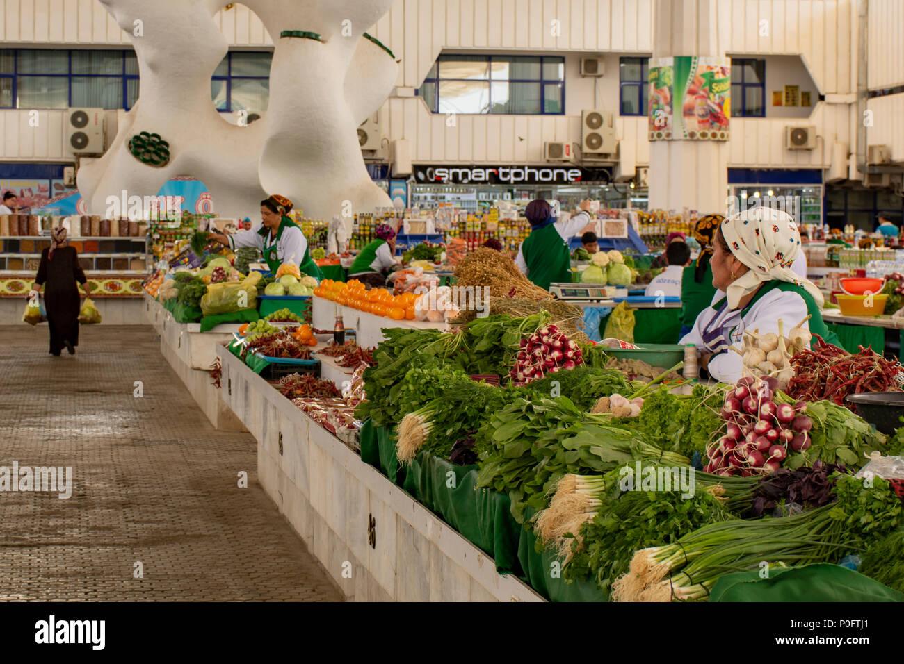 Bazaar, Ashgabat, Turkmenistan - Stock Image