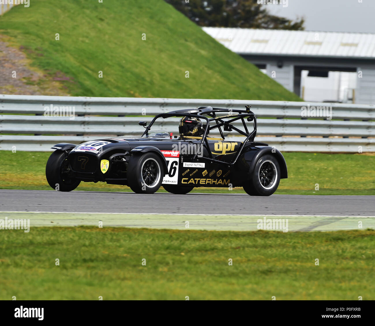 Stephen Nuttall, Caterham 420R, Gold Arts Magnificent Sevens, Snetterton Motor racing circuit, Snetterton, Norfolk, England, Saturday 7th April 2018.  Stock Photo