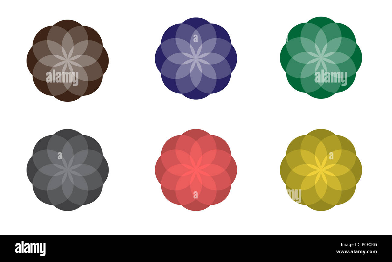 Abstract Flower Icons Stock Vector: Spring Flowers Vector Icon Stock Photos & Spring Flowers