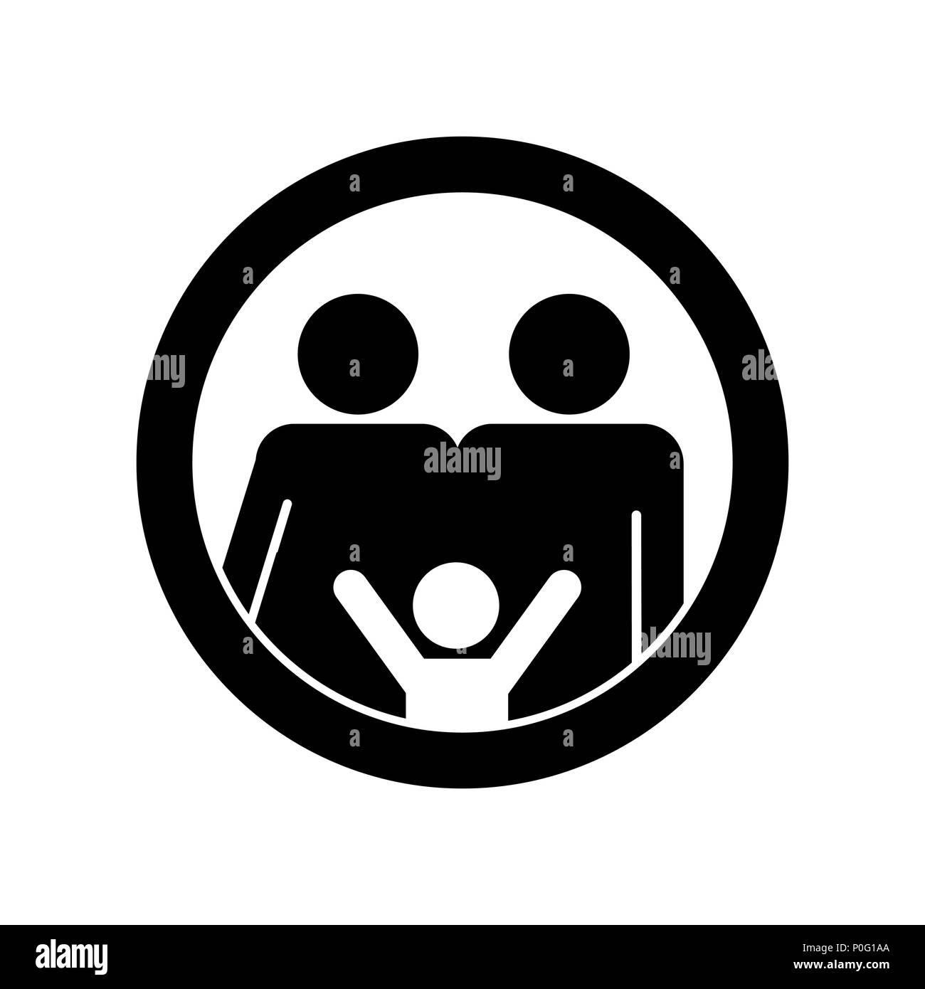 Family Symbol Black And White Stock Photos Images Alamy