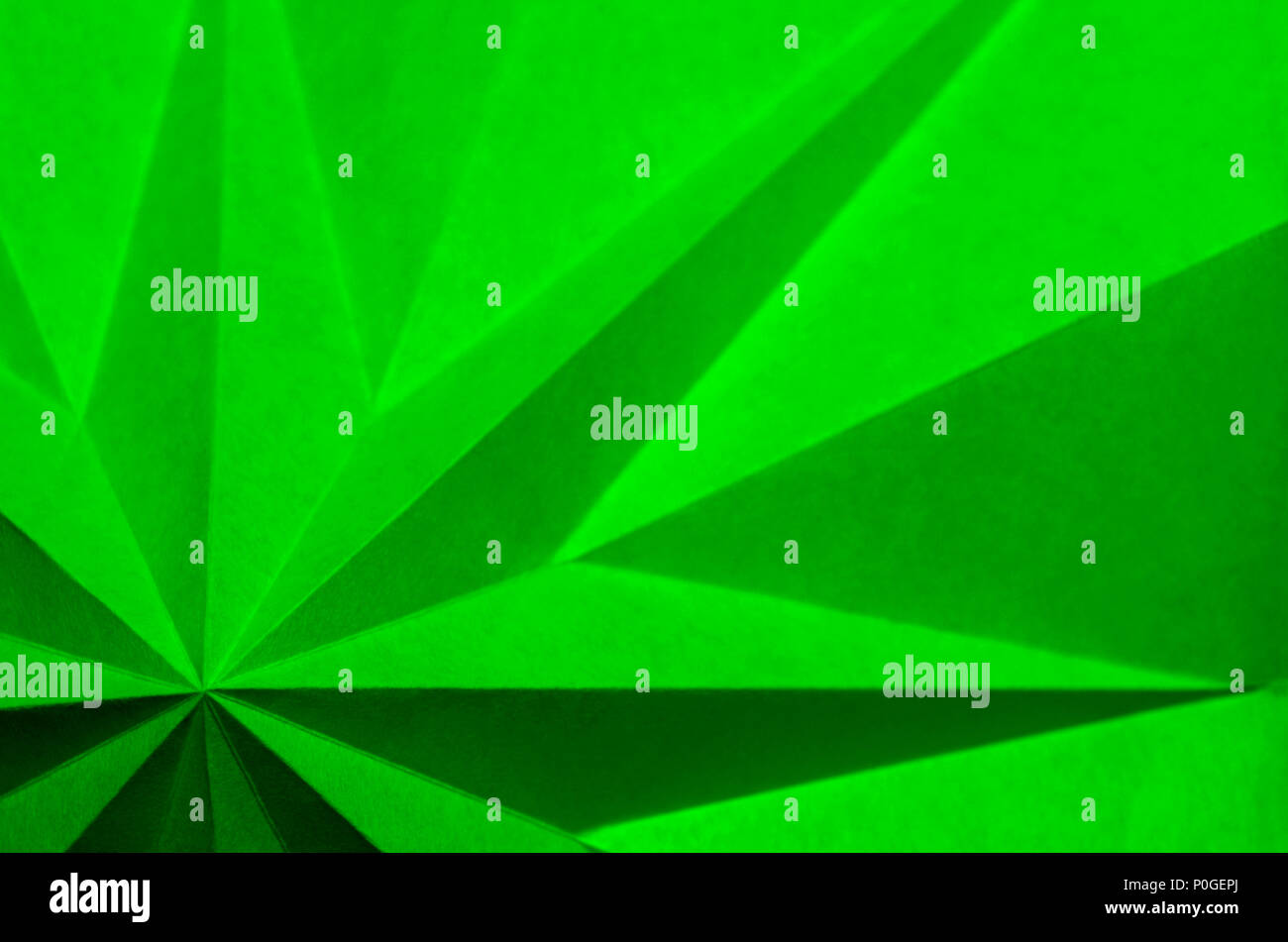 Christmas Wallpaper Background.Green Origami Based Abstract Christmas Wallpaper Background