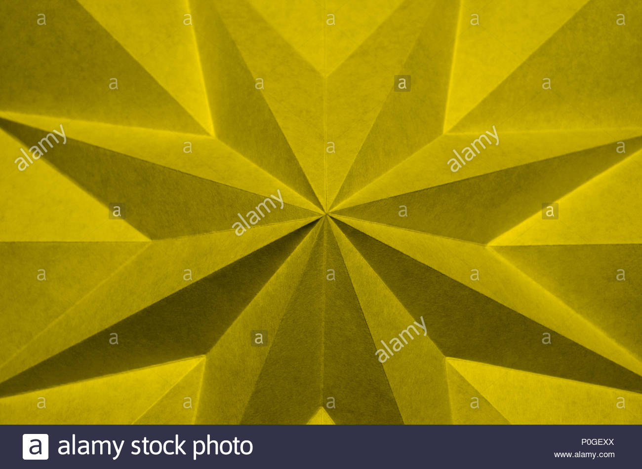 yellow origami abstract background wallpaper. Pantone 13-0646 ...