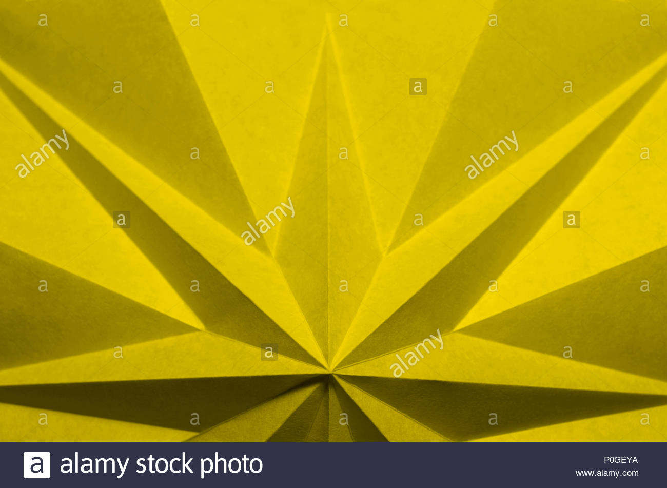 Yellow Origami Based Abstract Background Wallpaper Pantone 13 0646 Meadowlark 2018 Color Of The Year Compliment