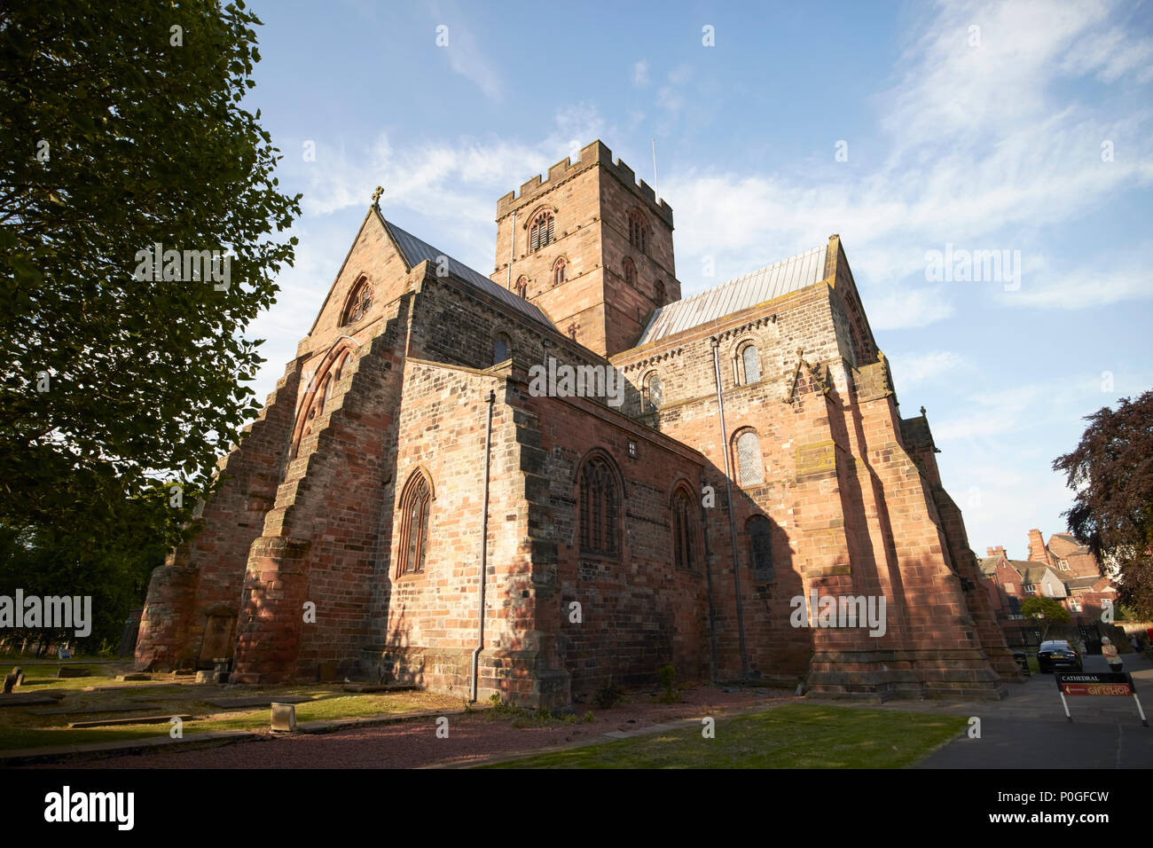 Cathedral Church of the Holy and undivided trinity known as Carlisle cathedral Carlisle Cumbria England UK - Stock Image