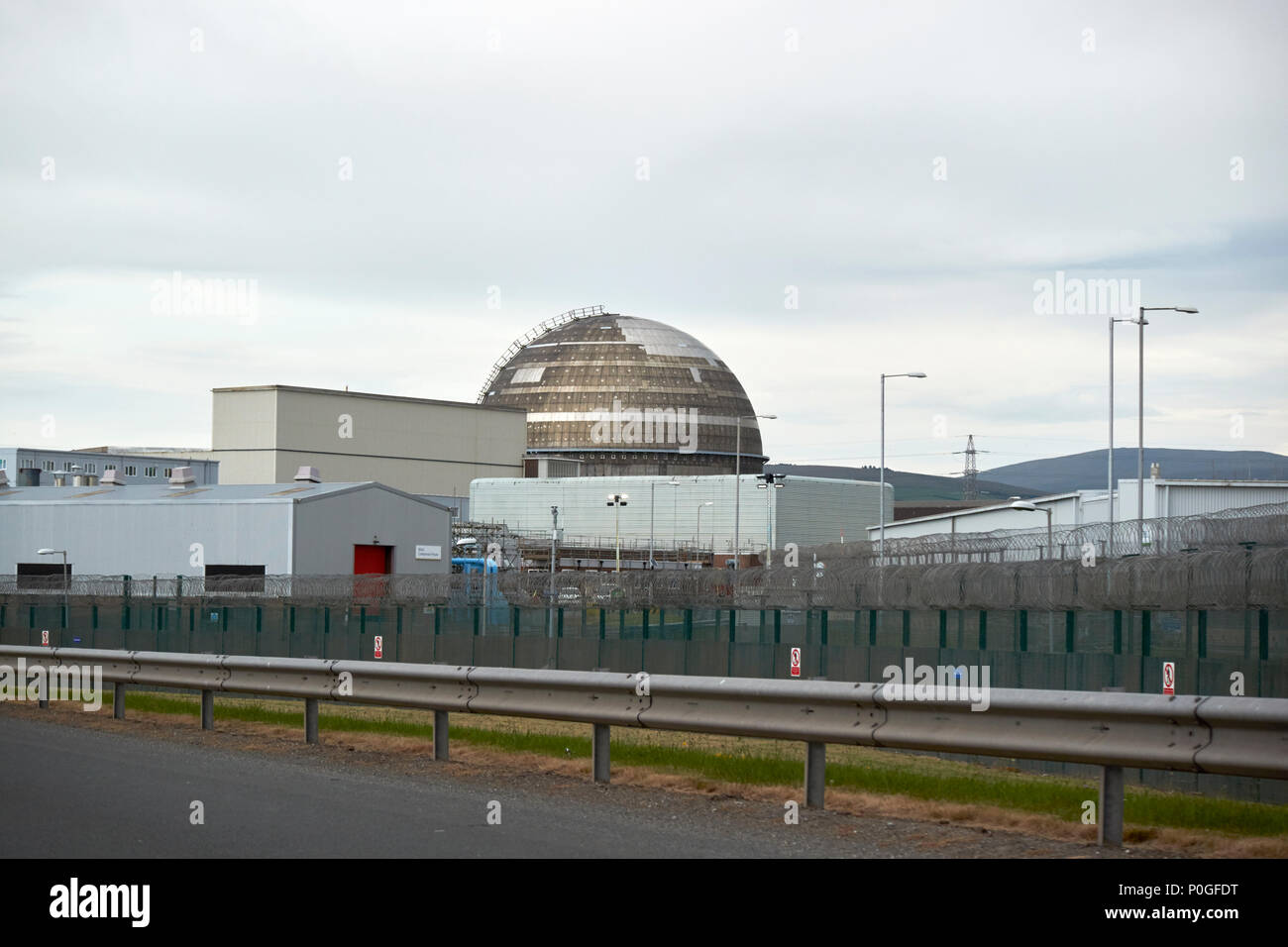 windscale gas cooled reactor at Sellafield nuclear fuel reprocessing and nuclear decommissioning site in Cumbria England UK - Stock Image