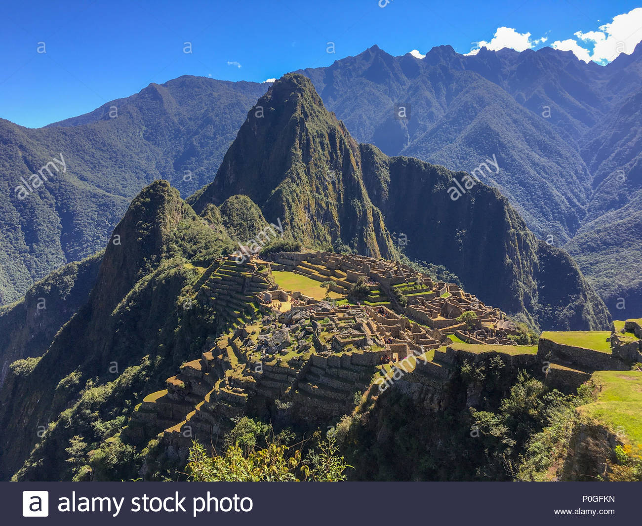 Machu Picchu the estate for the Inca emperor Pachacuti - Stock Image