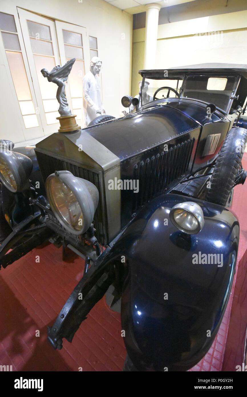 Kolkata, India. 01, June, 2018.  Fiat Tipo 103, used by Jagadish Chandra Bose, kept at the Transport Gallery of Birla Museum - Stock Image