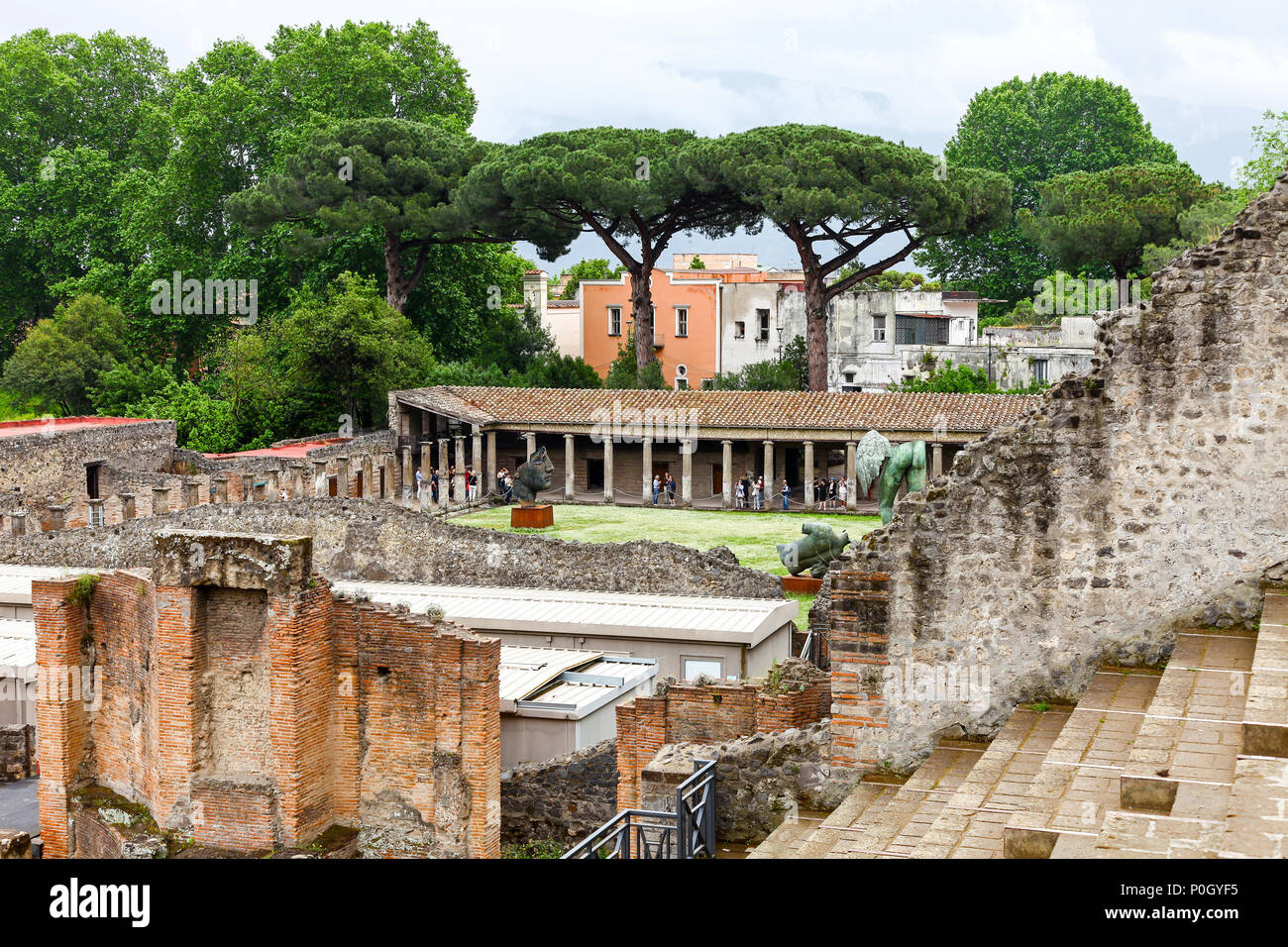 Pompeii Archaeological site, Pompeii, Campania, Italy, - Stock Image