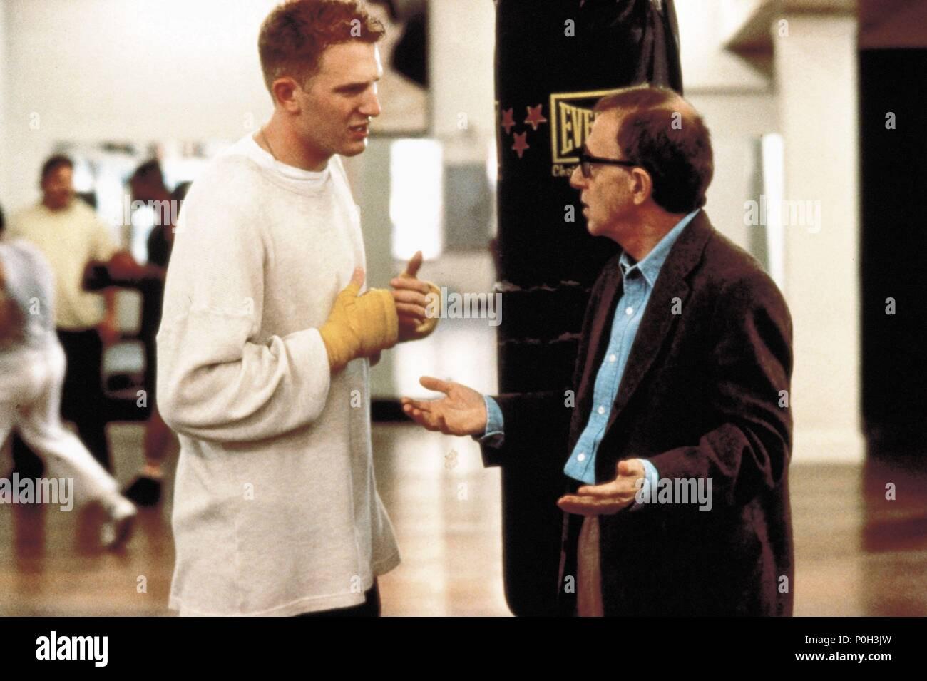 Original Film Title: MIGHTY APHRODITE.  English Title: MIGHTY APHRODITE.  Film Director: WOODY ALLEN.  Year: 1995.  Stars: WOODY ALLEN; MICHAEL RAPAPORT. Credit: MIRAMAX / Album - Stock Image