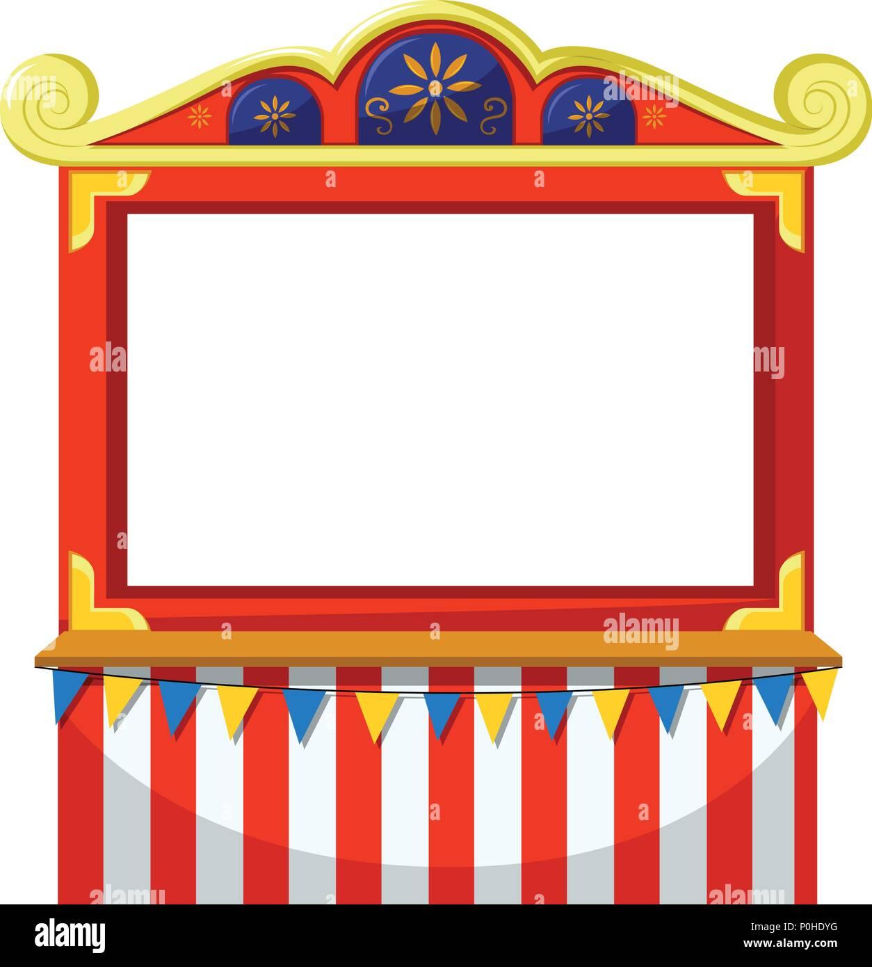 Circus theme blank banner illustration Stock Vector Art ...