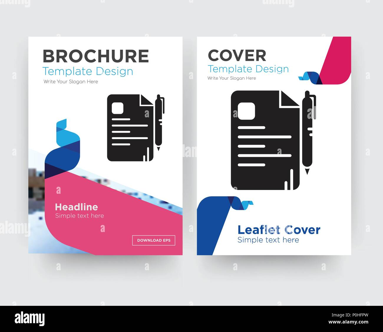 file brochure flyer design template with abstract photo background