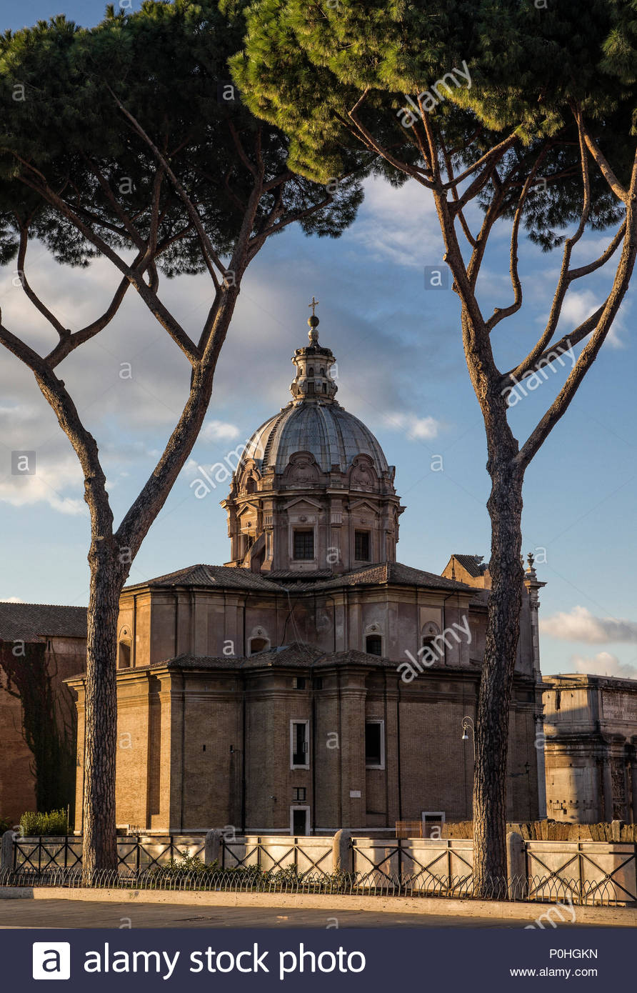 Chiesa di Santa Martina e Luca situated between the Roman Forum and the Forum of Caesar, Rome, Italy. - Stock Image