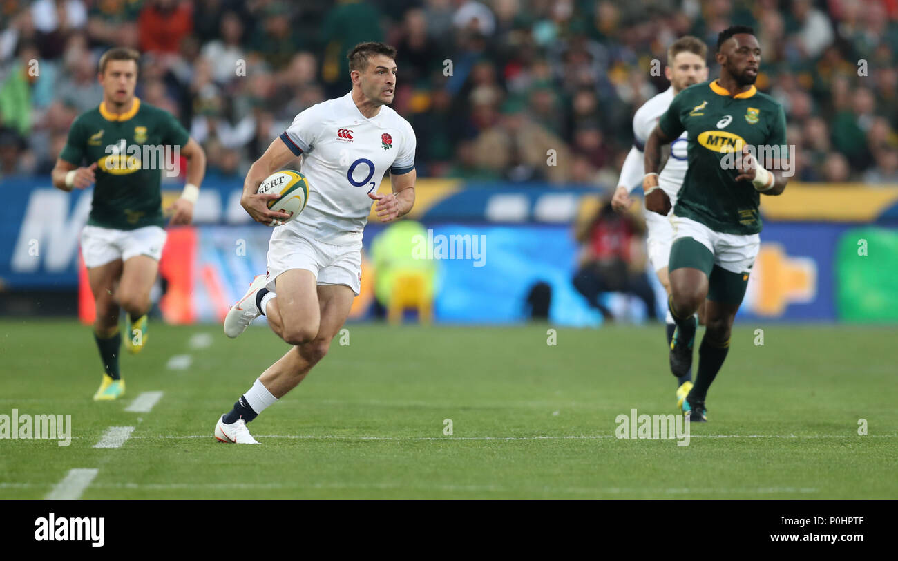 Emirates Airline Park, Johannesburg, South Africa, 9th June 2018,  Jonny May of England during the 2018 Castle Lager Incoming Series 1st Test match between South Africa and England Credit: Action Plus Sports Images/Alamy Live News Stock Photo