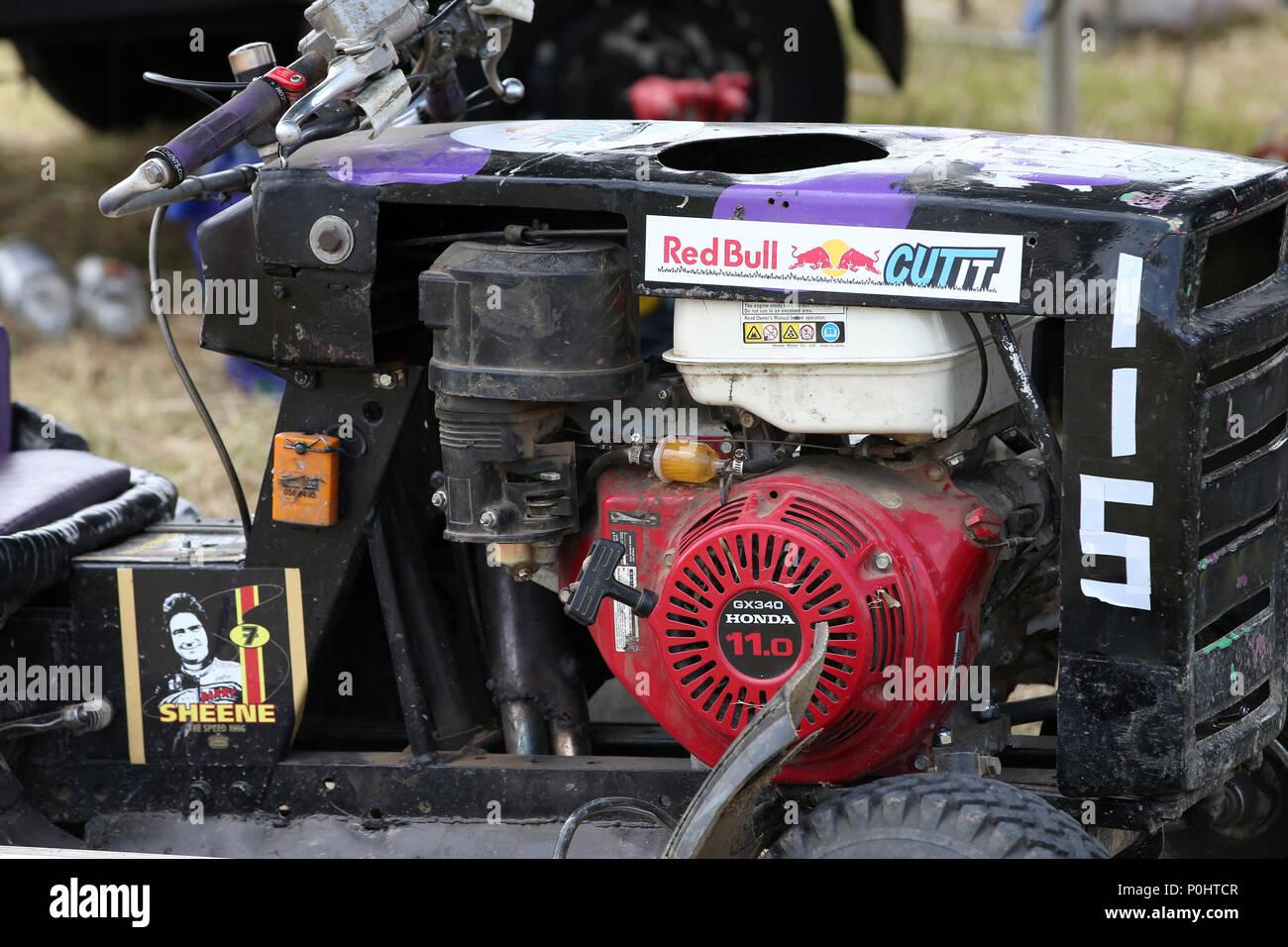 Somerset Uk 9 June 2018 Red Bull Cut It Lawn Mower Racing Event In Axbridge Somerset