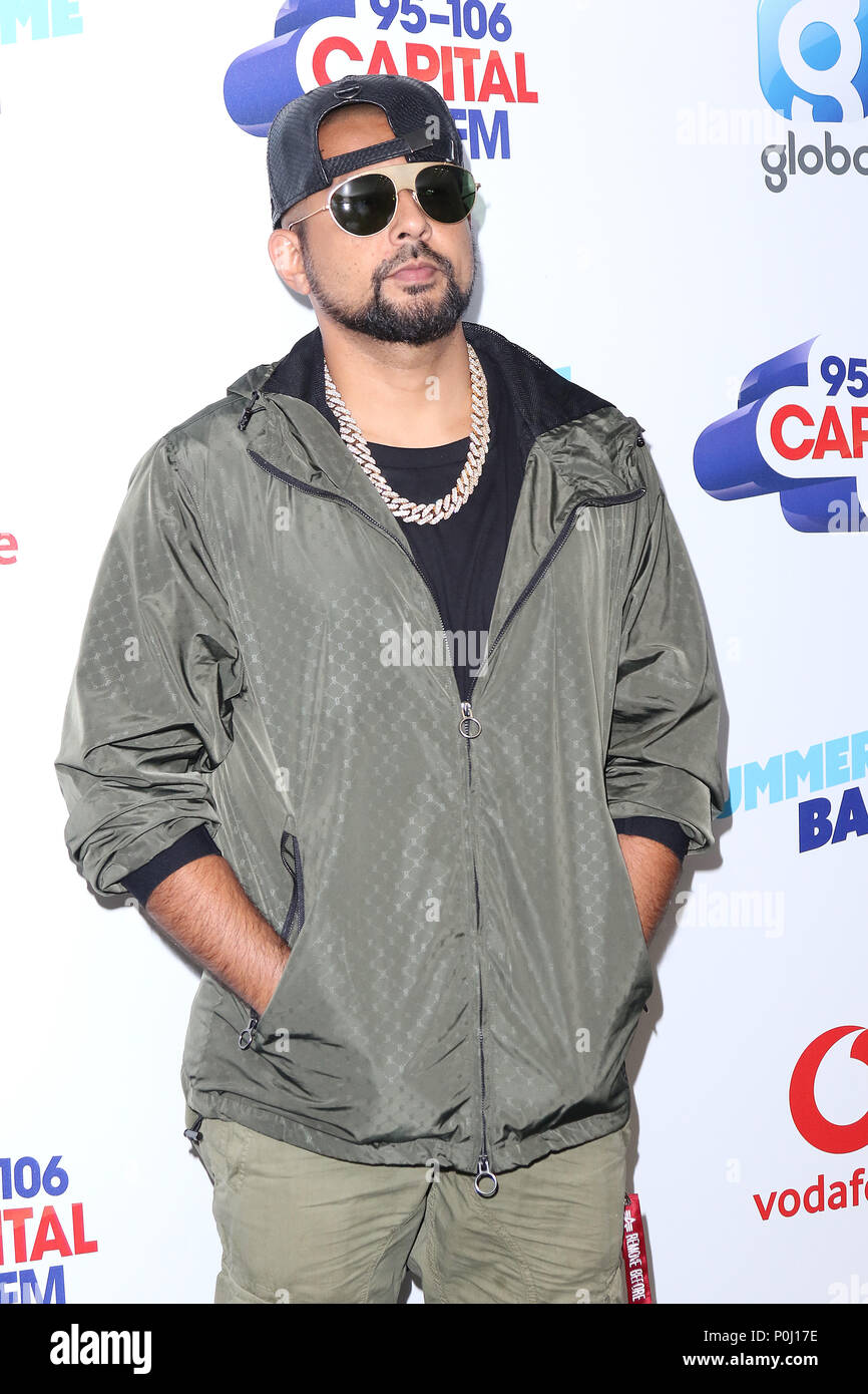 London, UK  9th June 2018  Sean Paul, Capital's Summertime Ball with
