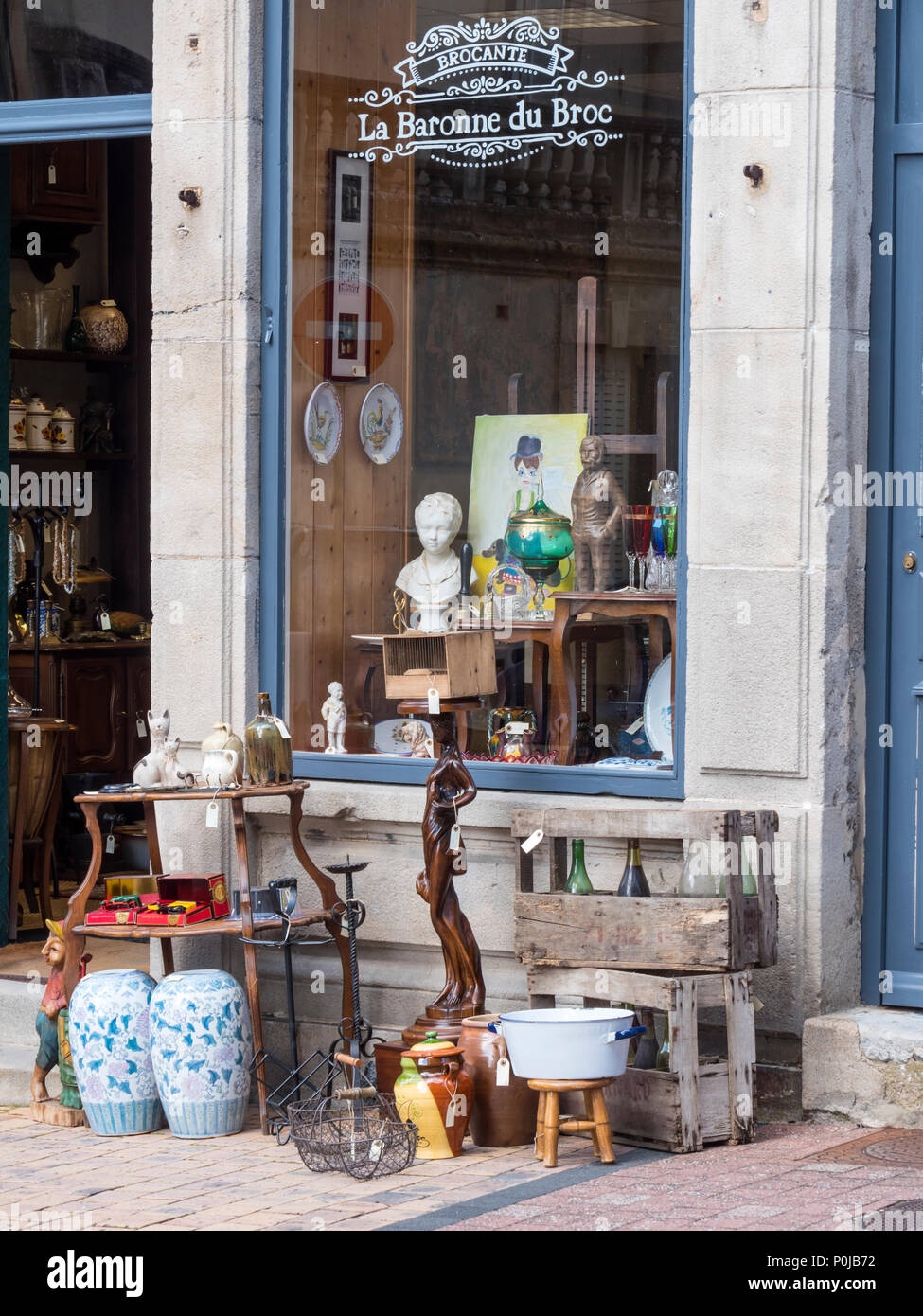 Bric A Brac Saone Et Loire vertical brocante france stock photos & vertical brocante