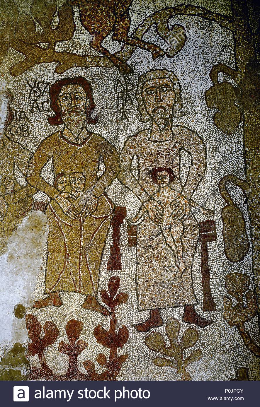 Abraham And Isaac Symbols Of God Father And Christ From The Mosaic