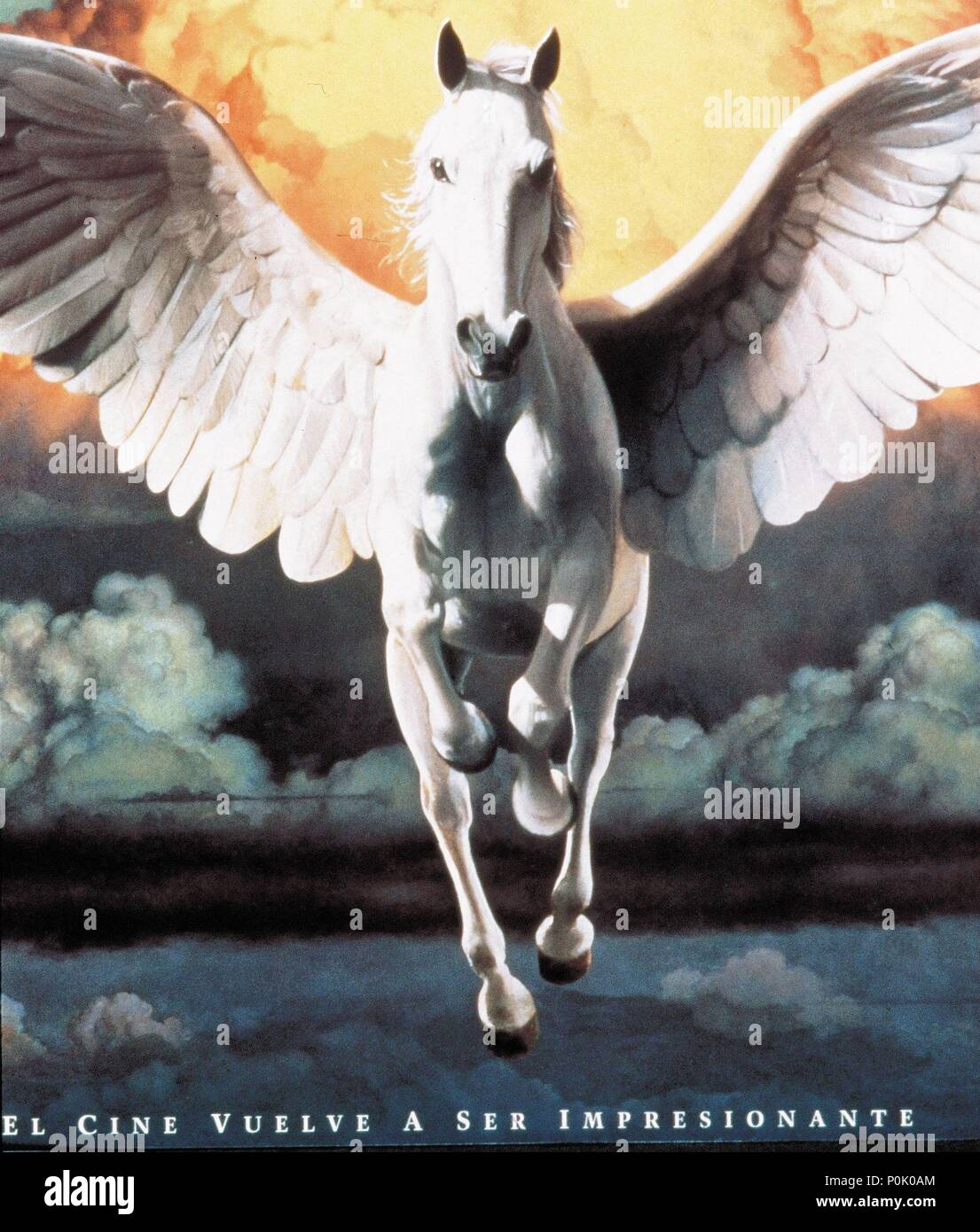 Description: The horse with wings from the Columbia Tristar Motion Picture Group logo..  Original Film Title: FILM HISTORY: COLUMBIA STUDIOS.  English Title: FILM HISTORY: COLUMBIA STUDIOS. Stock Photo