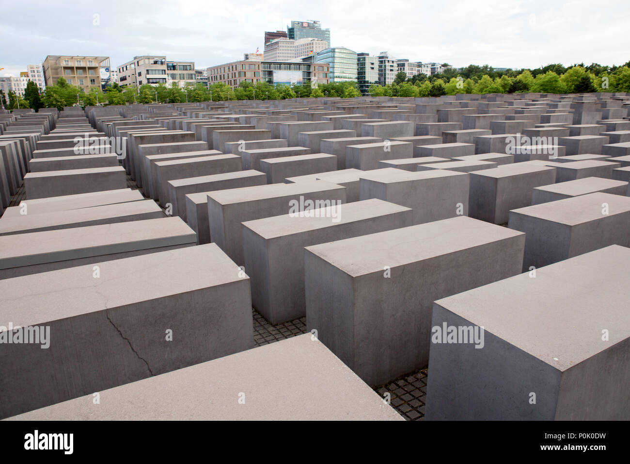 Memorial to the Murdered Jews of Europe, in Berlin - Stock Image