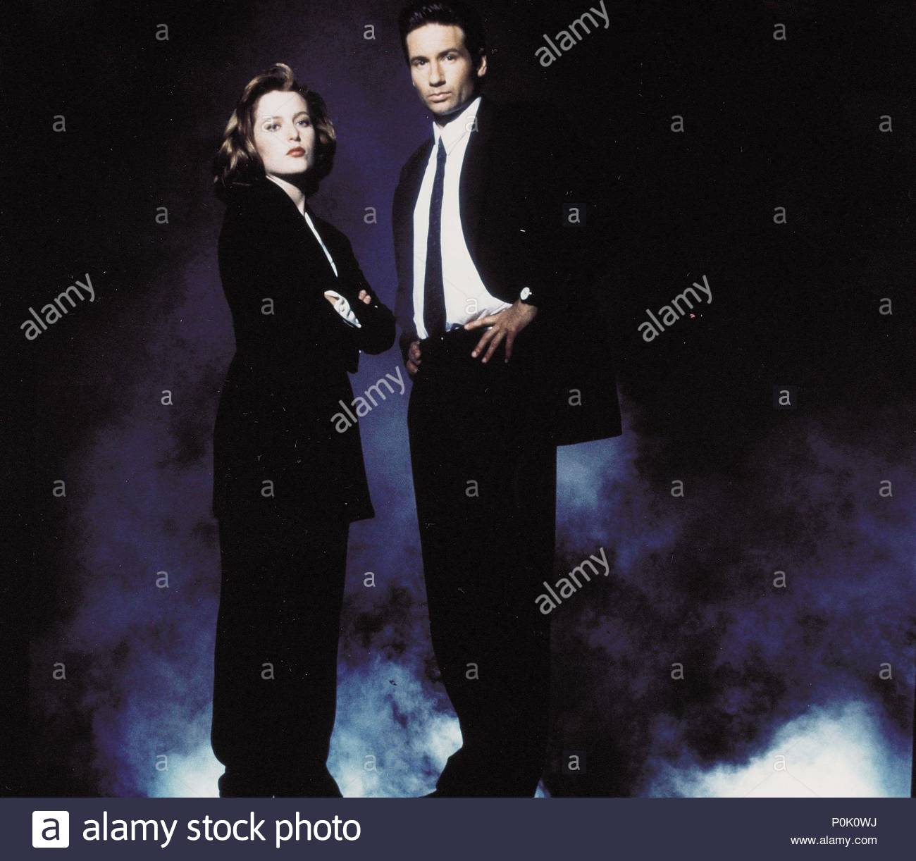 Original Film Title: THE X FILES.  English Title: THE X FILES.  Film Director: CHRIS CARTER; ROB BOWMAN; DAVID NUTTER.  Year: 1993.  Stars: DAVID DUCHOVNY; GILLIAN ANDERSON. Credit: FOX FILMS / Album - Stock Image