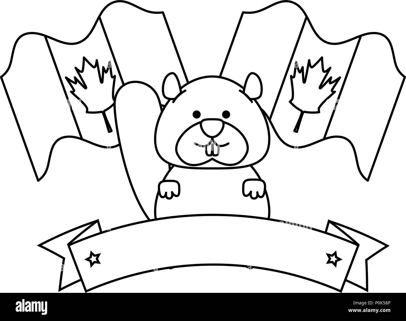 flags black and white stock photos images page 3 alamy 17th Century French Flag cute canadian marmot with flags stock image