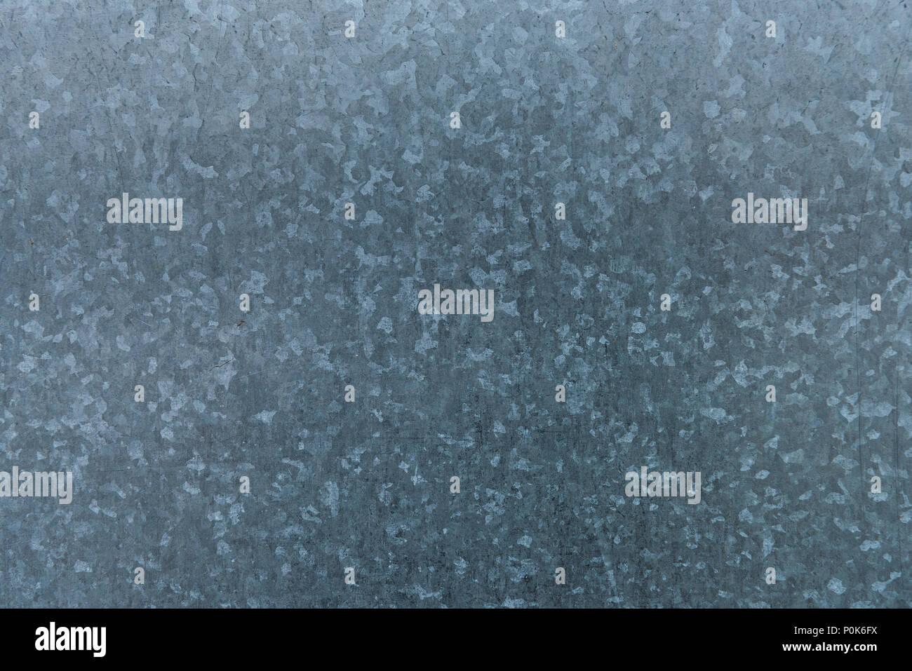 Galvanized iron sheet metal texture - Stock Image