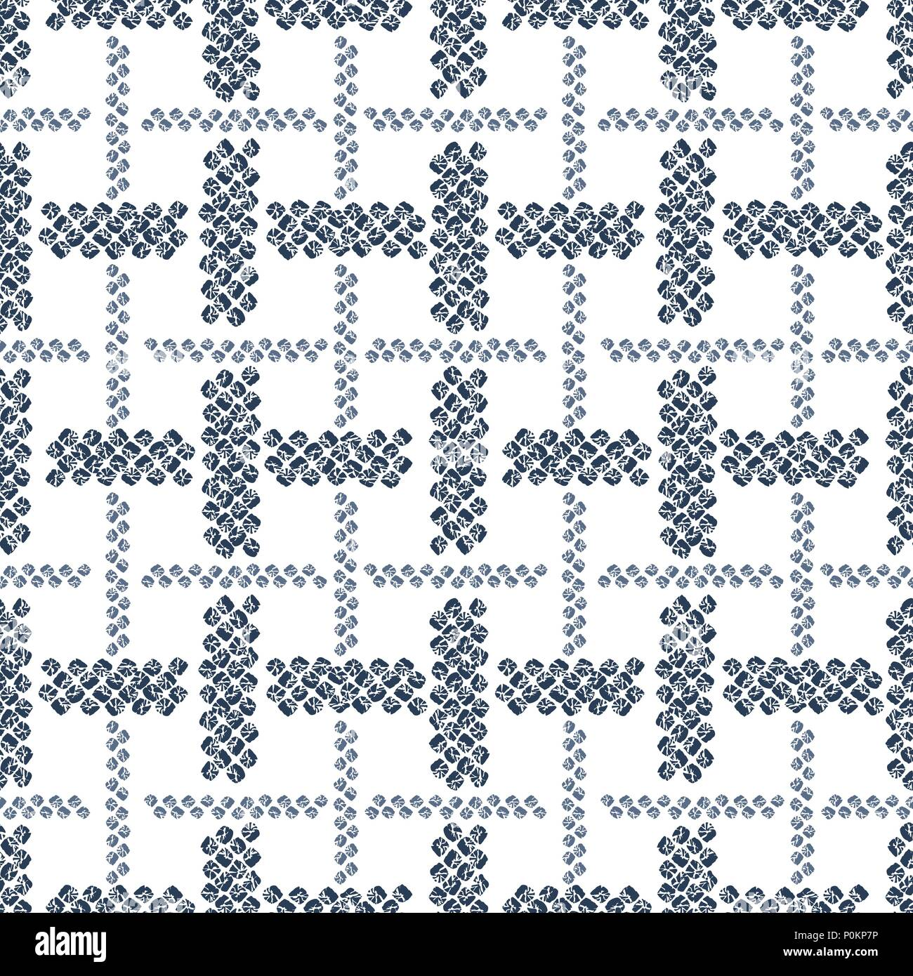 Japanese Seamless Pattern White Background Indigo Color Classic Asian Dyeing Technique Plain Texture For Wallpaper