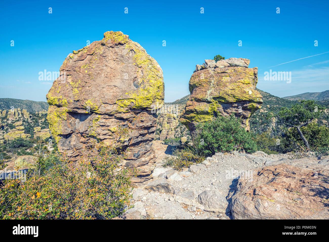 View from Massai Point. Chiricahua National Monument, Willcox, Arizona. Stock Photo