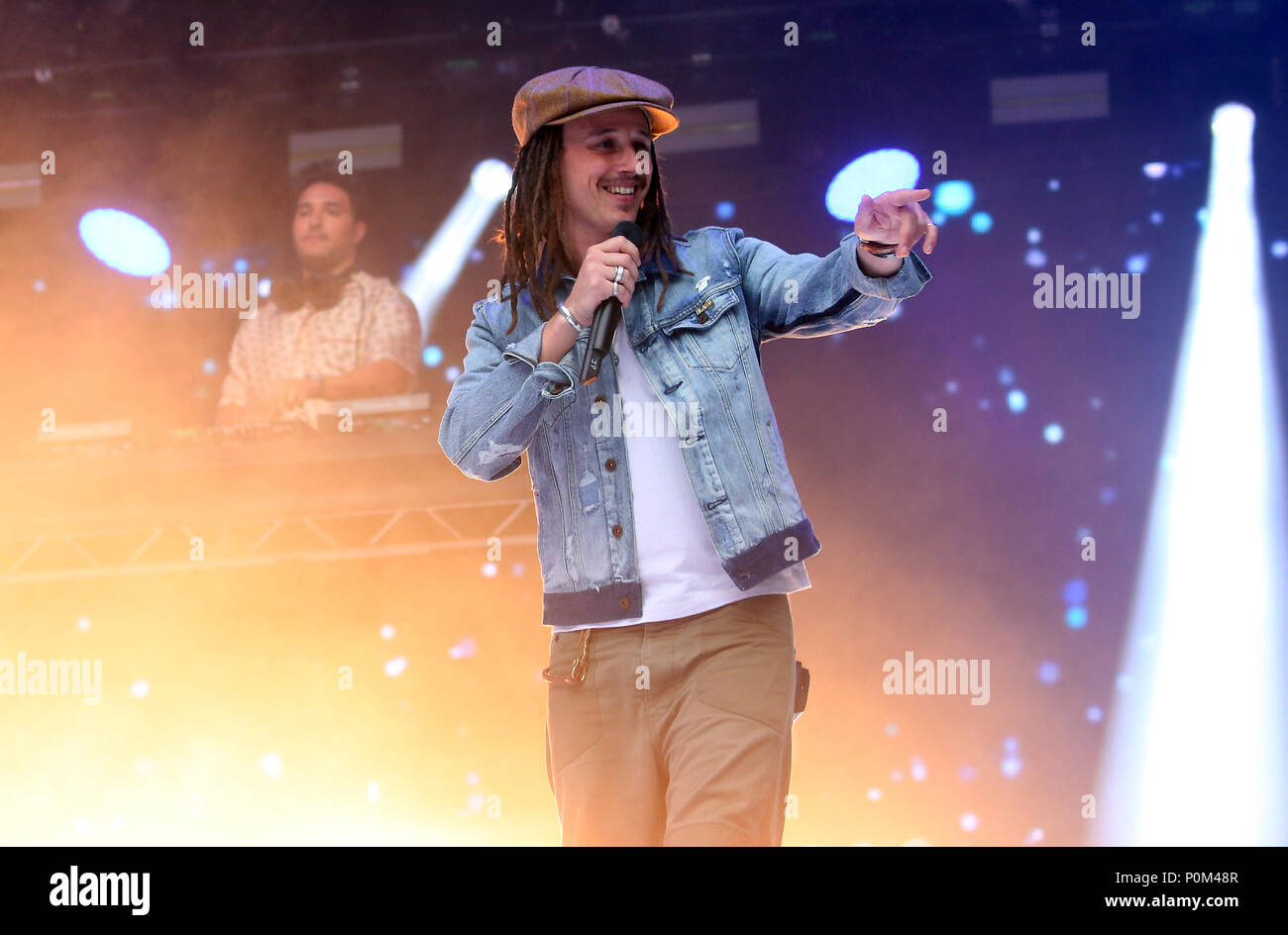 JP Cooper on stage during Capital's Summertime Ball with