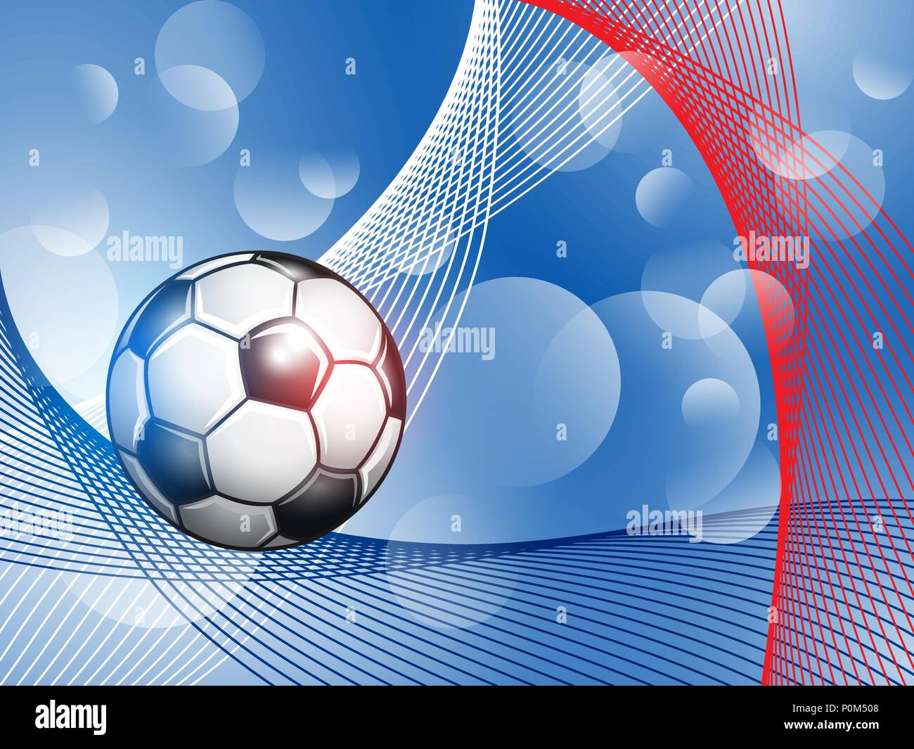Soccer Championship abstract colorful background. - Stock Vector