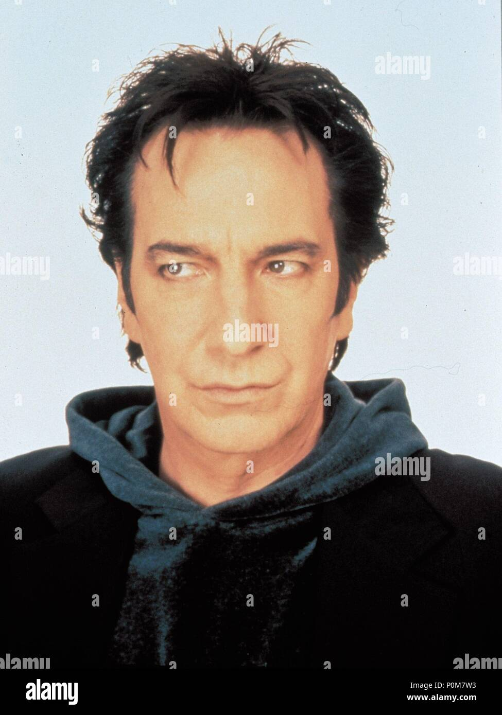 Original Film Title: DOGMA.  English Title: DOGMA.  Film Director: KEVIN SMITH.  Year: 1999.  Stars: ALAN RICKMAN. Copyright: Editorial inside use only. This is a publicly distributed handout. Access rights only, no license of copyright provided. Mandatory authorization to Visual Icon (www.visual-icon.com) is required for the reproduction of this image. Credit: VIEW ASKEW / Album - Stock Image