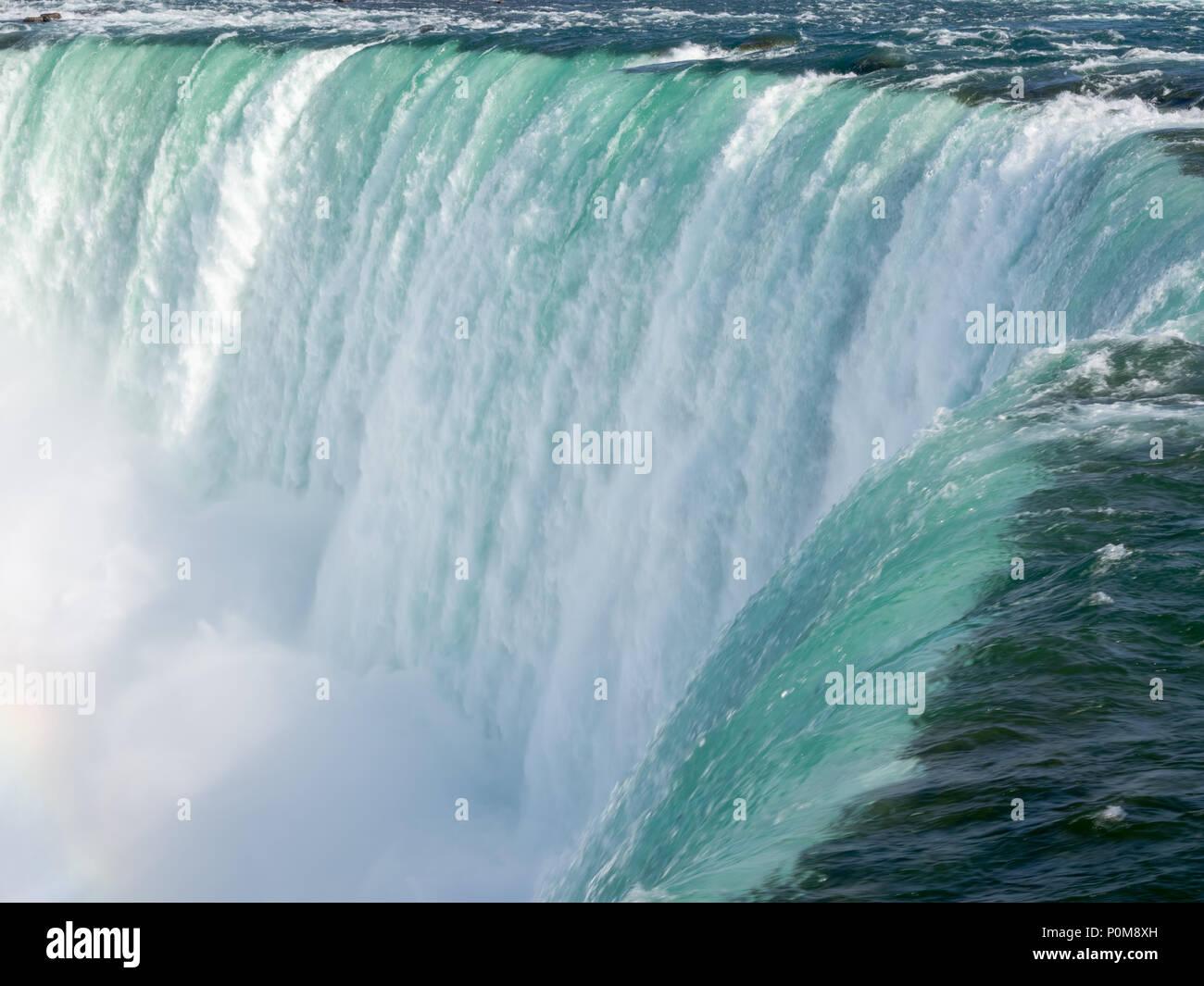 Horseshoe falls as seen from Niagara Falls, Ontario, Canada side. - Stock Image